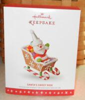 Hallmark 2016 Keepsake Ornament Santa's Sweet Ride 10th & Final