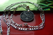 """1922 ITALY FLYING LADY FREEDOM CENTIMES PENDANT ON A  26"""" 925 Silver Chain"""