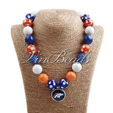 Acrylic Chunky Bead Bubblegum Gumball Football Alloy Pendant Necklace Jewelry 08