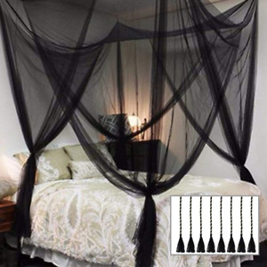 Twinkle Star 4 Corner Post Bed Canopy, Halloween Decoration, for Full/Queen/King