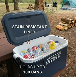 70-Quart Marine 5-Day Ice Chest Cooler Insulated Ice Box with Chest Cooler