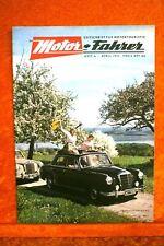 Motor + Fahrer Reise Revue 4/57 Opel Olympia Rekord Salon Genf