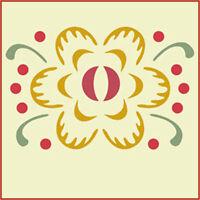 Flower 1 Stencil- Folk Art Stencils - Fraktur- The Artful Stencil