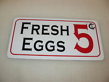 FRESH EGGS 5 Cents Sign 4 Game Room Farm Texas Country House Store Man Cave