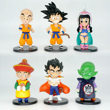 6 Pcs Dragon Ball Z Son Goku Gohan Piccolo Kuririn Childhood Action Figure Model