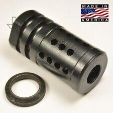 """5/8""""-24 FXC-2 Short Muzzle Brake Compensator .308/300 blackout Free Crush Washer"""