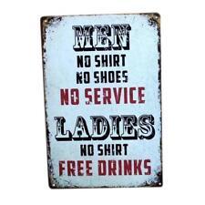Metal Tin Sign Poster Plaque Bar Cafe Home Plate Wall Art Decor -Men&Ladies
