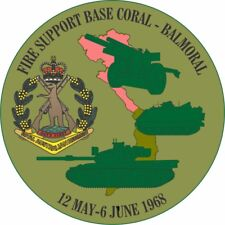 BATTLE OF FSB CORAL/BALMORAL 12TH MAY TO 16TH JUNE 1968 LAMINATED VINYL STICKER
