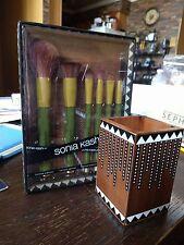 SONIA KASHUK Earth - 6 Brush Set + EXOTIC ARTISAN Vanity Brush Cup Lim Ed BNIB