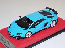 1/43 Looksmart Lamborghini Aventador SV LP750-4 Baby Blue / Italian SV Leather