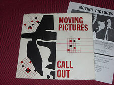 """Moving Pictures: Call Out   7""""  Very rare 1983 private power pop SIGNED + insert"""