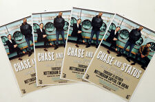 CHASE AND STATUS  TOUR FLYERS x 4 - CHASE & STATUS