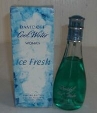 DAVIDOFF COOL WATER ICE FRESH WOMAN 3.4 oz-100 ml EDT SPRAY LIMITED EDITION