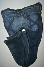 "NEW  7 for all MANKIND MIA mid rise SLIM BOOTCUT JEANS size 26 women uk 8 32""leg"