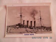 CARTE FICHE NAVIRES DE GUERRE GOOD HOPE CROISEUR CUIRASSE 1901