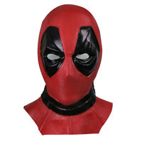 X-Men Deadpool Red Hood Mask Halloween Full Face Latex Helmet Fancy Ball Props