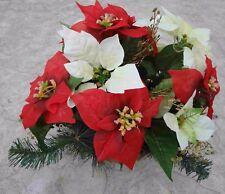 künstliche pflanzen  blumen Grabgesteck  Advend 24cm rot