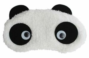 Spancare image to zoom in 24x7 eMall Soft Fabric Heart Panda Sleeping Eye Mask