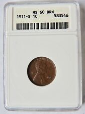 1911 S Lincoln Cent  MS 60