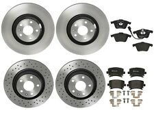 Front and Rear Brembo Brake Kit Low-Met Pads PVT Disc Rotors For Audi TT Quattro