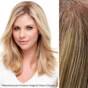 "Imperfect Jon Renau Top Style 12"" Topper - 100% Human Hair - Color 12FS8 Blond"