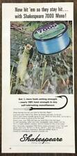 1967 Shakespeare 7000 Mono Fishing Line Print Ad Hit Em So They Stay Hit