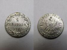 Altdeutschland , Frankfurt , 1 Kreuzer 1856 f.ST  ,  # 797