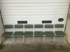 6 chaises pliante FRALCH  Vintage du 20ème des années 1960-70 en bons états