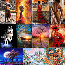 Couple Women Digital Oil Painting Oil Painting By Numbers Kit Framele:~-