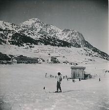 MONTGENÈVRE c. 1953 - Tire-Fesse Skieurs Station de Ski Hautes-Alpes - Div 10889