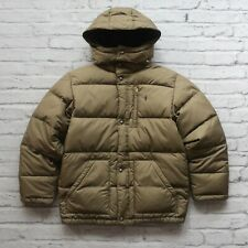 Vintage Polo Ralph Lauren Quilted Down Jacket Youth Size XL/20 Coat Olive Green