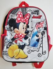 MINNIE Mouse Sparkly Canvas Backpack NEW Book Bag Tote Disney Mickey