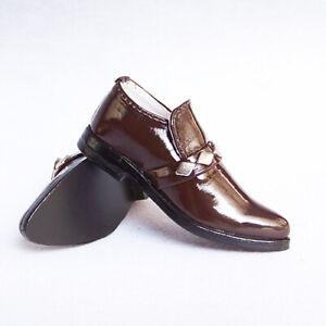 1/3 Uncle BJD Business Shoes Leather Bright Vamp Brown/White/Black Metal Deco DZ