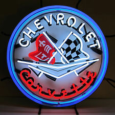 Chevrolet Corvette C1 Neon Sign - Silkscreen Backing - Chevy - GM - Dealsership