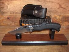 GERBER KNIFE - NEW PREMIUM GATOR - #1085 + BLACK LEATHER SHEATH -MADE IN THE USA