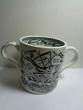 VINTAGE STAFFORDSHIRE LOVING CUP GOD SPEED THE PLOUGH (ref55.8)