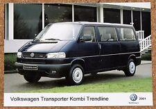 2001 VW T4 TRANSPORTER KOMBI TRENDLINE Original PRESS PHOTO