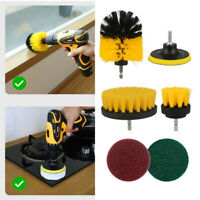 6pcs Set Electric Drill Brushes Round Cleaning For Carpet Glass Car Tires Sofa