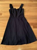 Banana Republic Milly Collection Women Black Casual Dress Womens Size 00P Petite