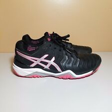 Asics Women's Gel Resolution 7 E751Y Running Shoes size 9.5 Black/Pink