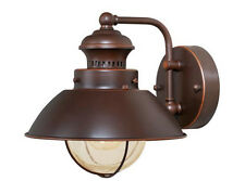 Vaxcel Harwich Outdoor Porch 1 L Wall Sconce Burnished Bronze Fixture OW21581BBZ