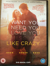 Felicty Jones Jennifer Lawrence LIKE CRAZY ~ 2011 Romantic Drama | UK DVD