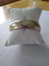 Filled Bangle Bracelet Victorian Era Etched Gold