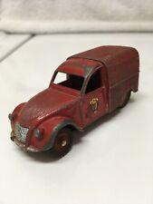 DINKY TOYS 25DR CITROEN 2CV FIRE VAN RED 1958 MADE IN FRANCE