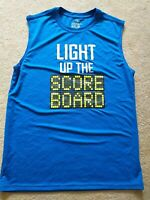 "Athletic Performance Active Tee- Sleeveless Shirt- Youth-Blue,Sz 18,""Light Up..+"