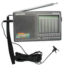 Hot DEGEN DSP Radio FM SW MW LW SSB Digital World Band Receiver+Antenna+Earphone