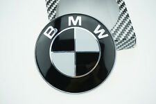 Black BMW Car Emblem Front Hood Badge Logo 82mm 2 Pins Fits BMW 3 5 7 X Series
