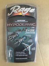 rage hypodermic broadheads 100 grain 2 inch cut