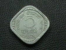 INDIA     5  Paise    1968  -  B      $ 2.99 maximum shipping in USA