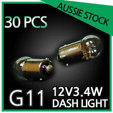 DASH LIGHT CLEAR G11 12V 3.4W WHITE 30PCS BULK PACK
